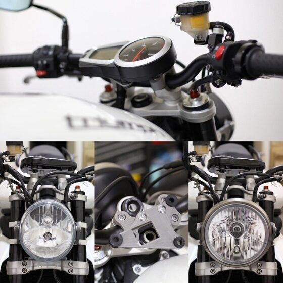 Motodemic Triumph Street Triple Single Headlight Conversion