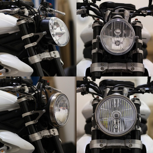 Triumph Street Triple Single Headlight Conversion Bat Mount