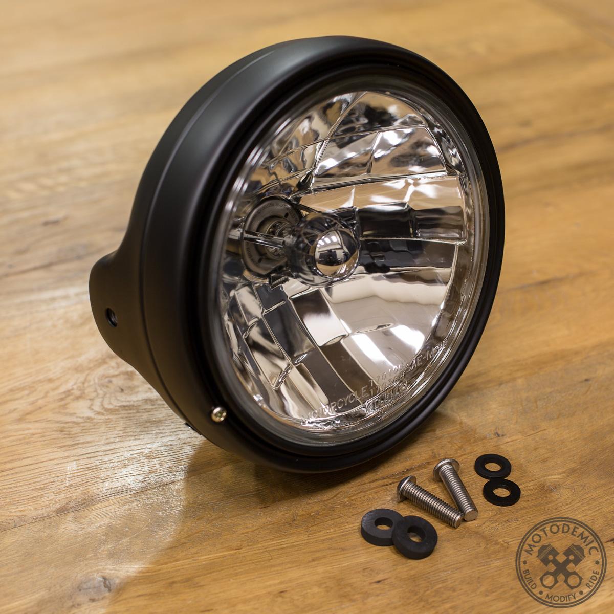 7 Inch Metric Style Headlamp Bucket Motodemic