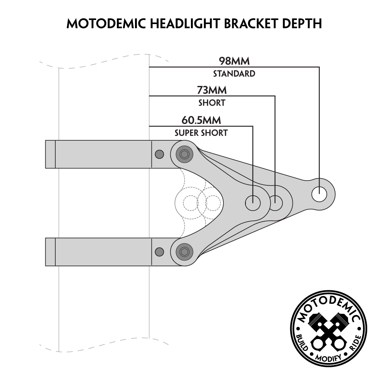 street triple custom headlight brackets motodemic