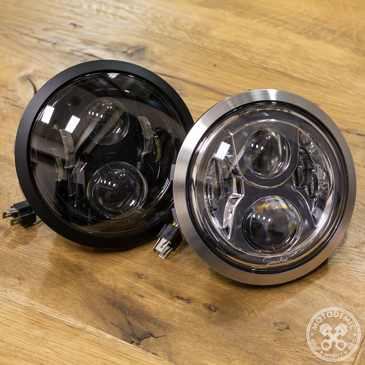 led headlight for ducati monster (93-08) • motodemic