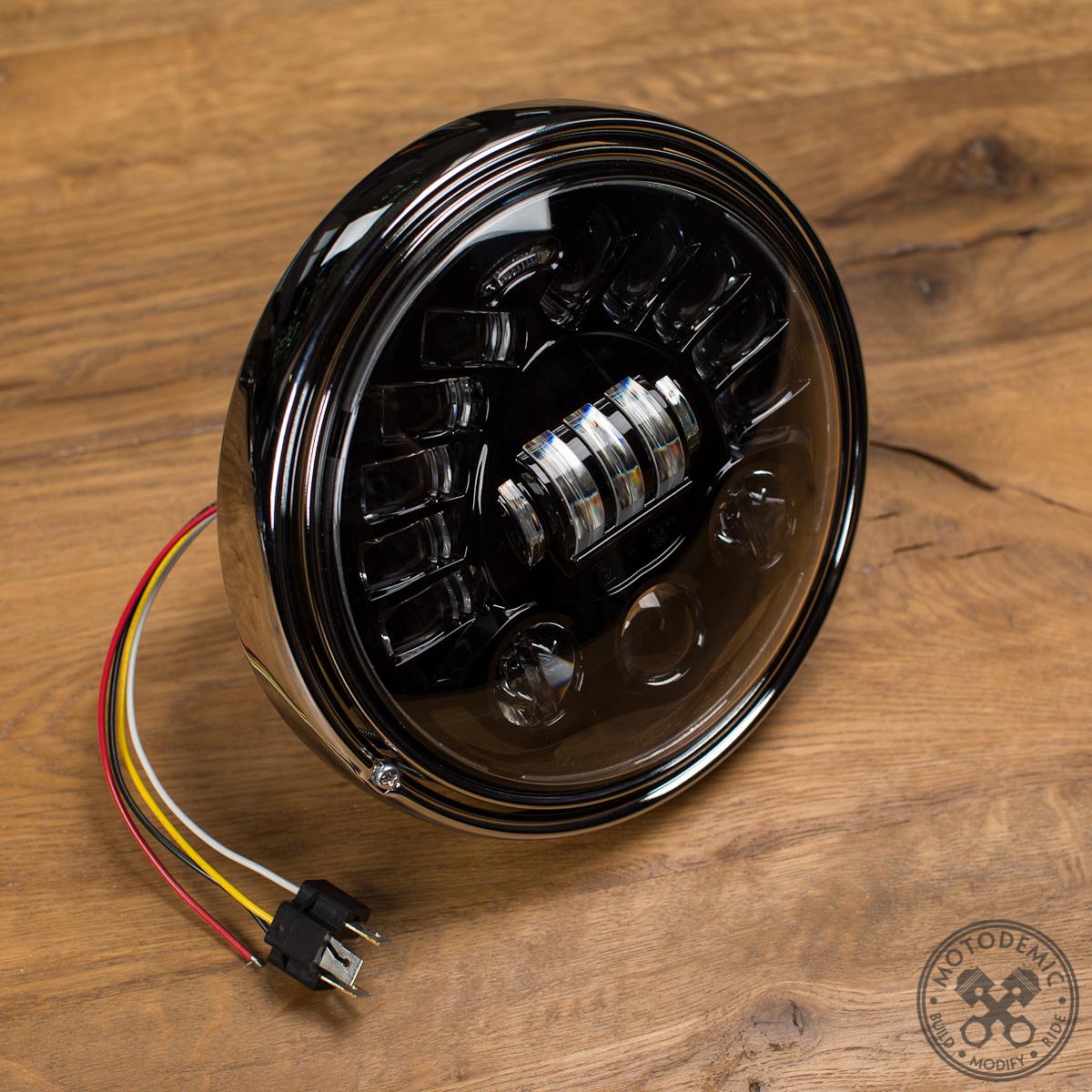 Cafe Racer Headlight With Speedometer