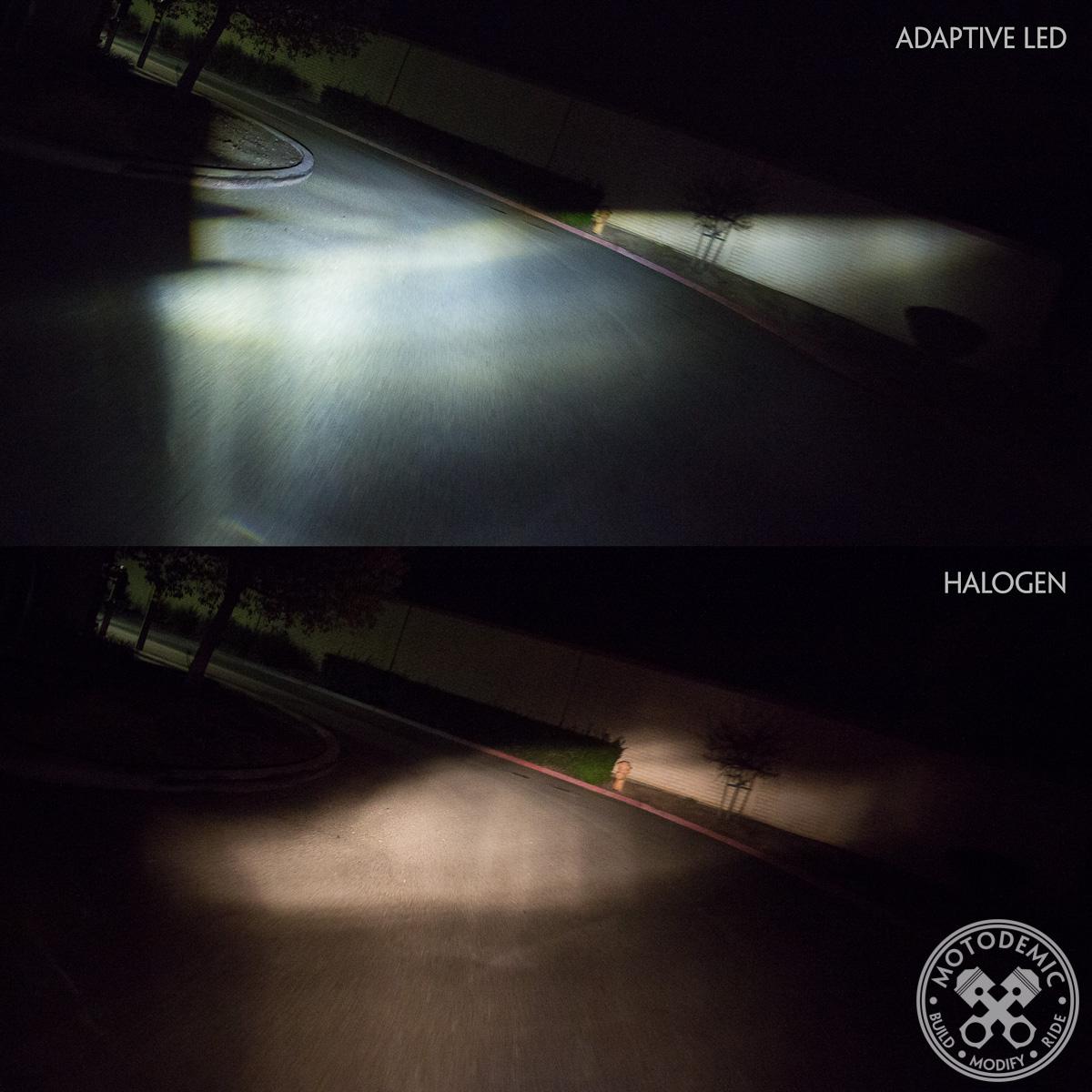 Adaptive LED Headlight vs Halogen