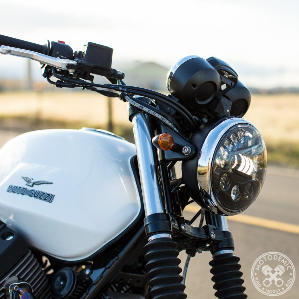 Moto Guzzi Adaptive LED Headlight Upgrade
