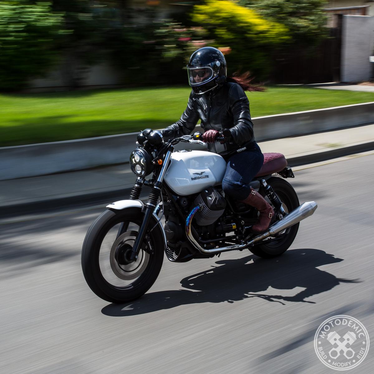 moto guzzi led headlight upgrade • motodemic