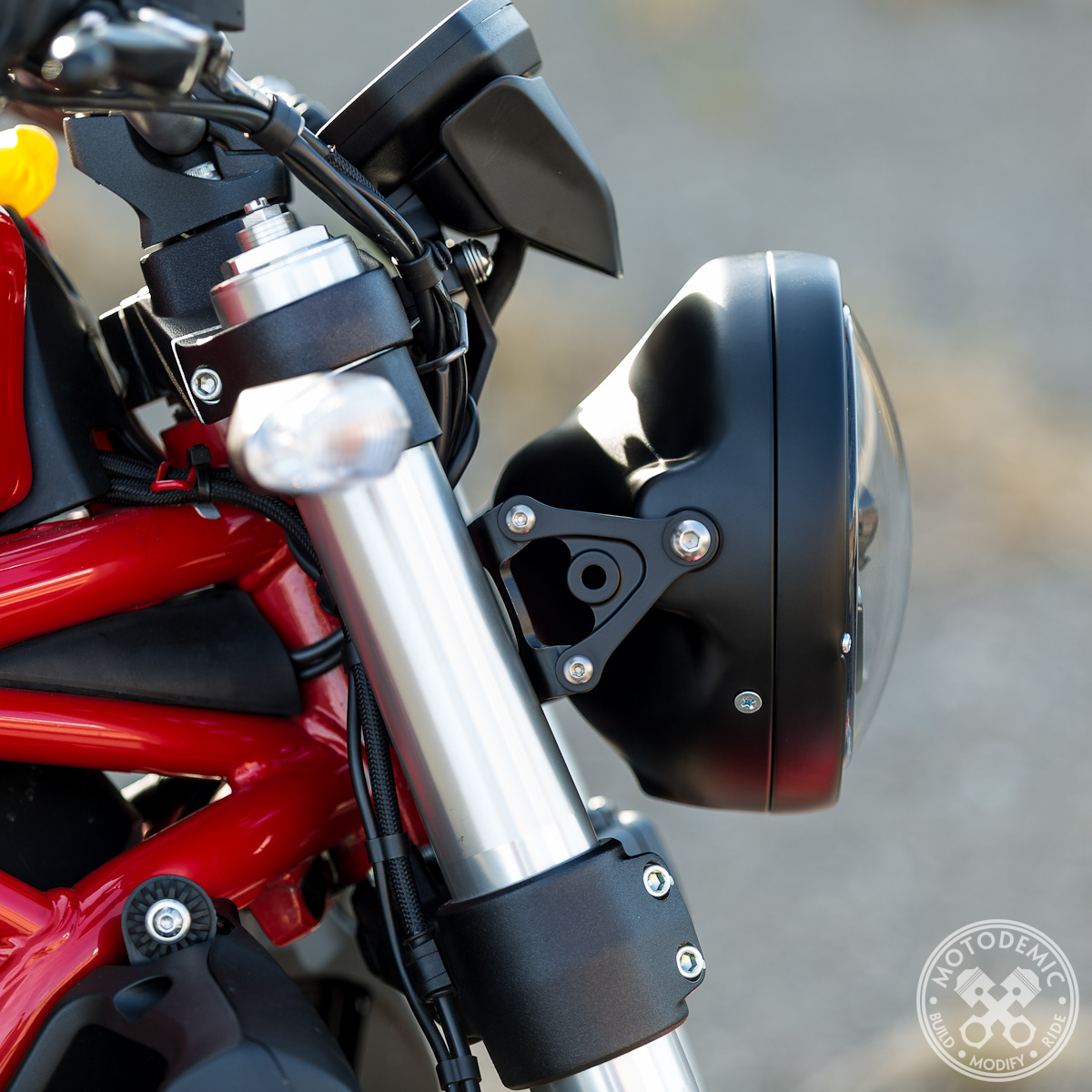 ducati monster headlight bracket 821/1200 • motodemic