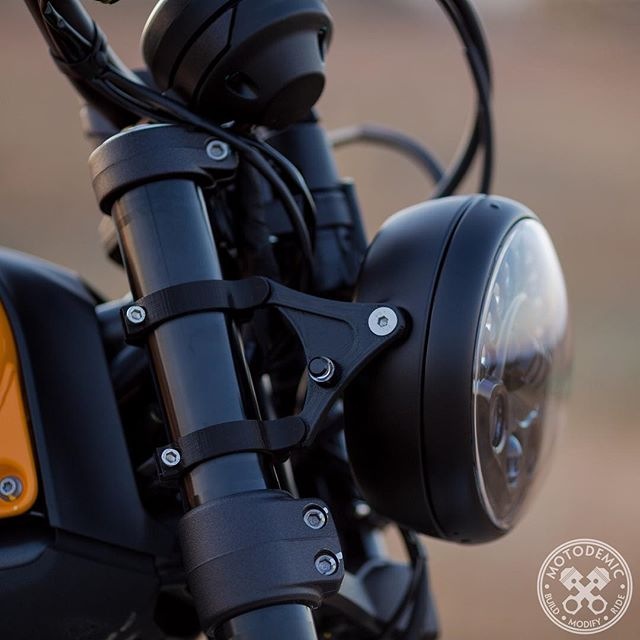 Scrambler LED Headlight Conversion