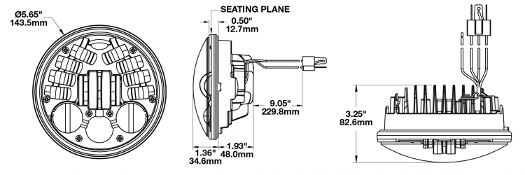 Jw Speaker 5 3 4 Inch Adaptive Led Headlight Motodemic