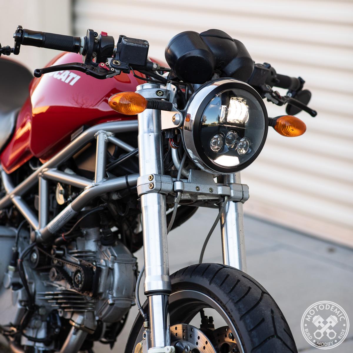 Led Headlight For Ducati Monster 93 08 Motodemic