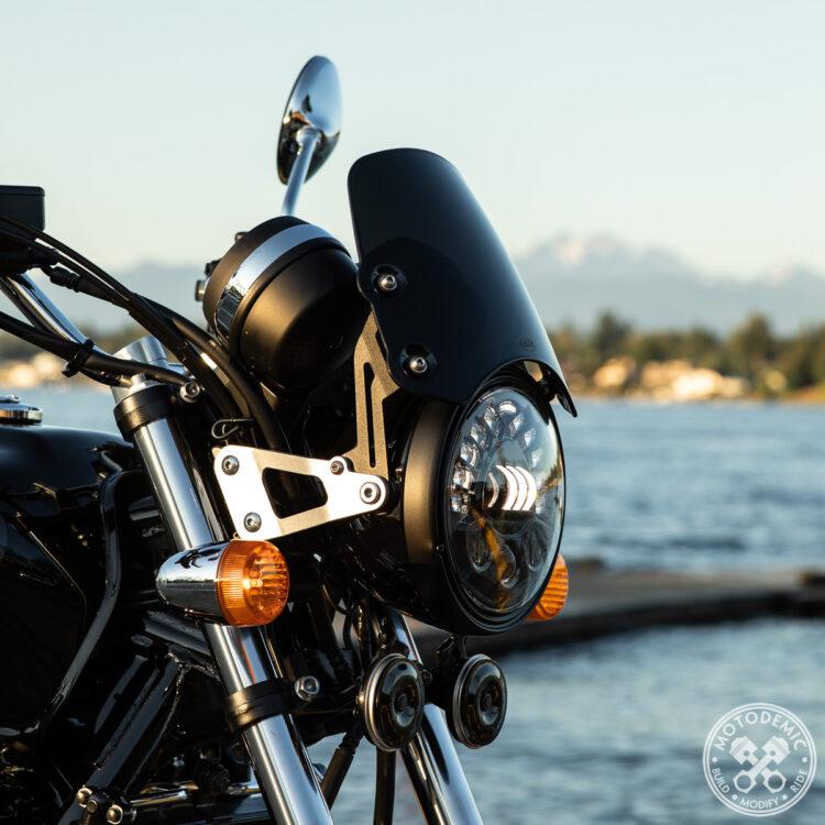 CB1100 LED Headlight - Short Flyscreen